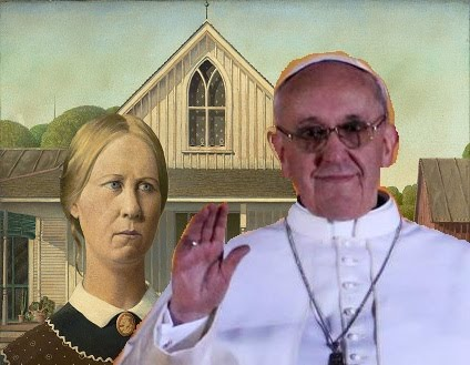 The new pope, American Gothic style.