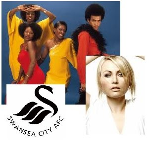 Swansea City Greats Boney M, and Mitsou.